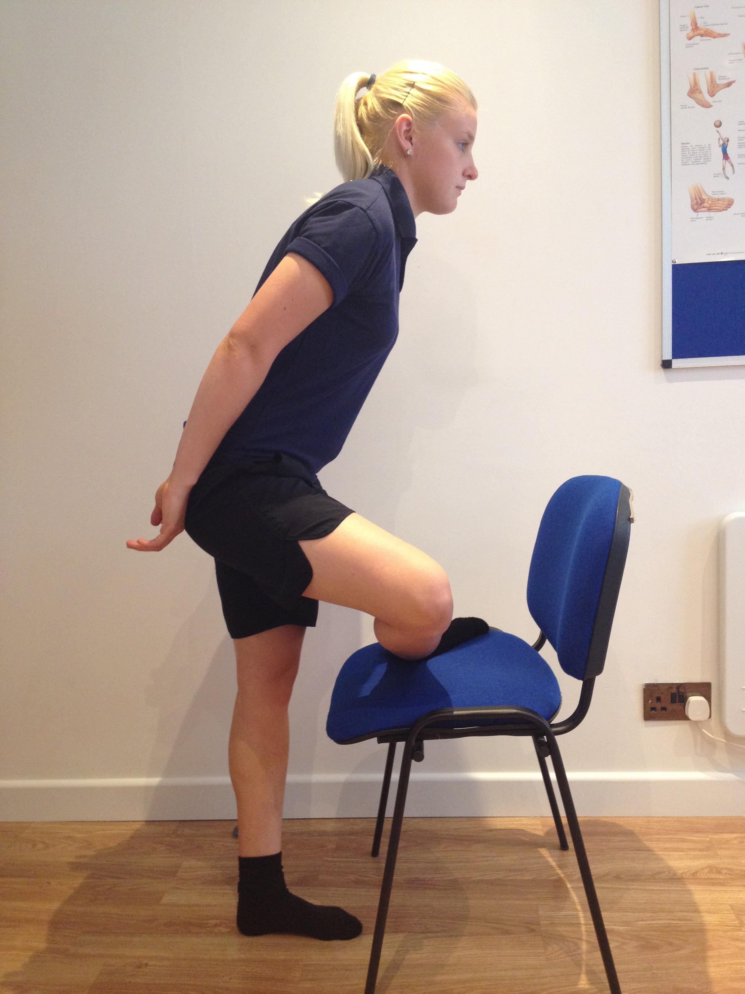 Standing piriformis stretches