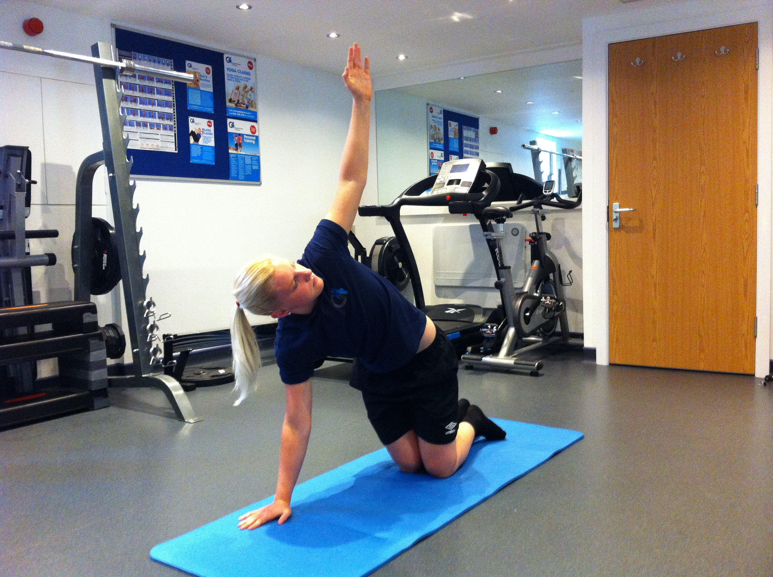 Trunk Rotation Stretch; Kneeling - G4 Physiotherapy & Fitness