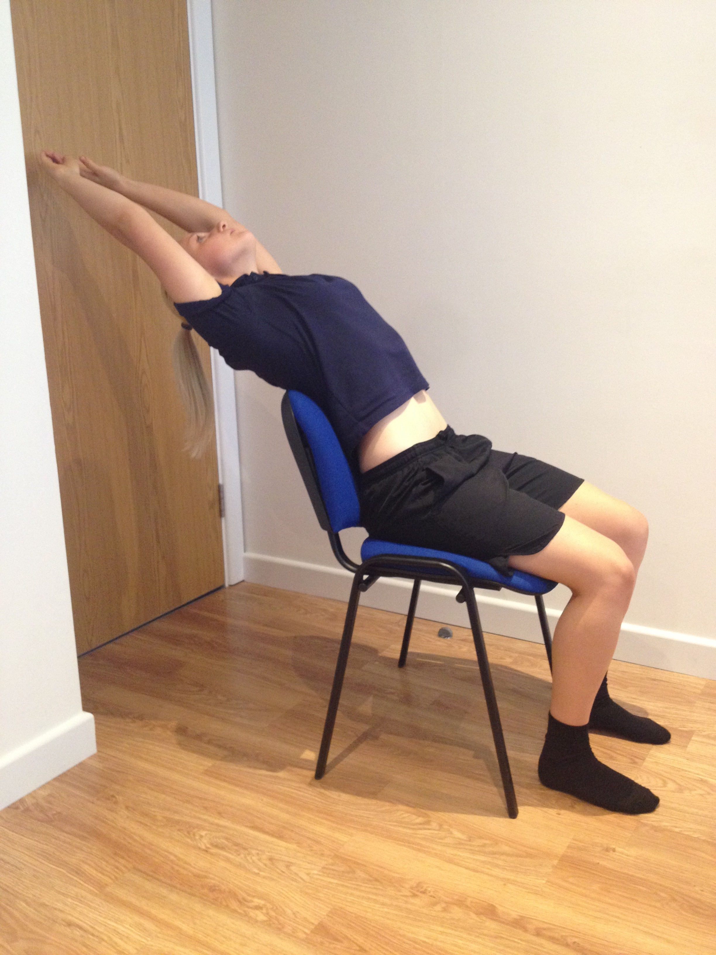 Thoracic Spine Extension Stretch Sitting G4