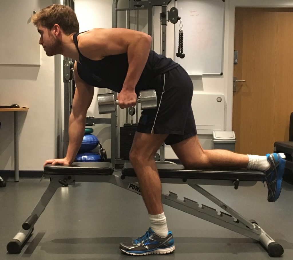 One Arm Dumbbell Row - G4 Physiotherapy & Fitness
