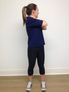 thoracic spine midback rotation stretch standing  g4
